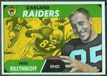 Fred Biletnikoff 1968 Topps football card