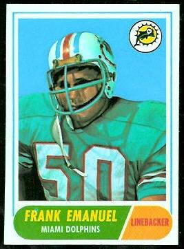 Frank Emanuel 1968 Topps football card