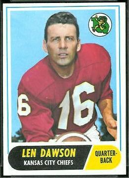 Len Dawson 1968 Topps football card