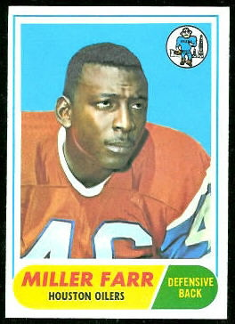 Miller Farr 1968 Topps football card