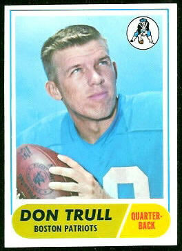 Don Trull 1968 Topps football card