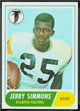 Jerry Simmons 1968 Topps football card