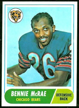 Bennie McRae 1968 Topps football card