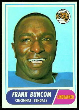 Frank Buncom 1968 Topps football card
