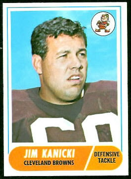 Jim Kanicki 1968 Topps football card