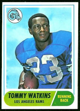 Tom Watkins 1968 Topps football card