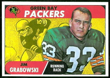 Jim Grabowski 1968 Topps football card