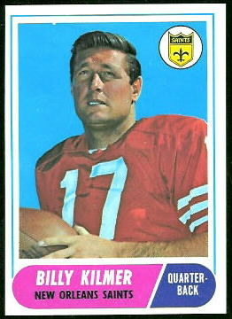 Bill Kilmer 1968 Topps football card