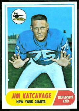 Jim Katcavage 1968 Topps football card