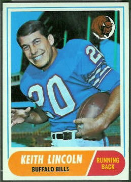 Keith Lincoln 1968 Topps 19 Vintage Football Card Gallery