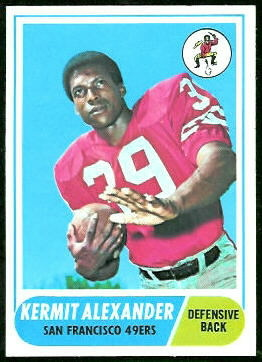 Kermit Alexander 1968 Topps football card