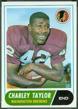Charley Taylor 1968 Topps football card