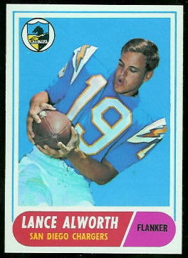 Lance Alworth 1968 Topps football card