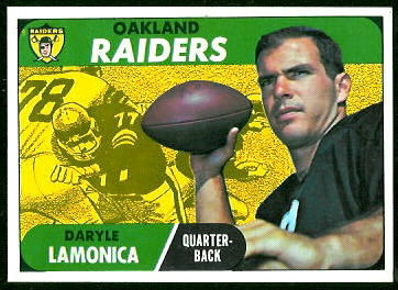 Daryle Lamonica 1968 Topps football card