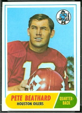 Pete Beathard 1968 Topps football card