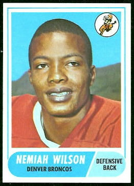 Nemiah Wilson 1968 Topps football card