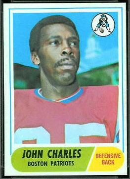 John Charles 1968 Topps football card
