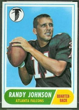 Randy Johnson 1968 Topps football card