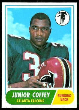 Junior Coffey 1968 Topps football card