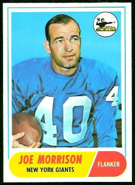 Joe Morrison 1968 Topps football card