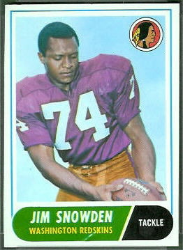 Jim Snowden 1968 Topps football card