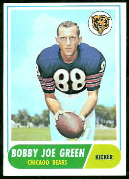 Bobby Joe Green 1968 Topps football card