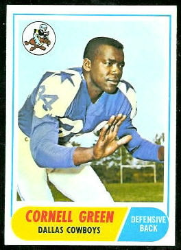 Cornell Green 1968 Topps football card