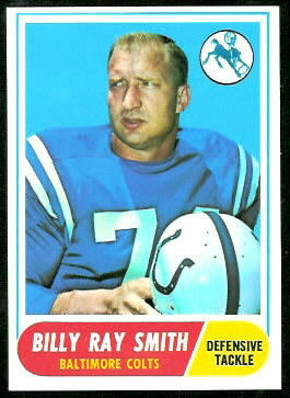 Billy Ray Smith 1968 Topps football card