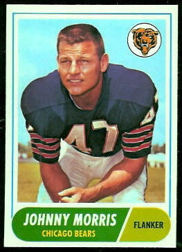 Johnny Morris 1968 Topps football card