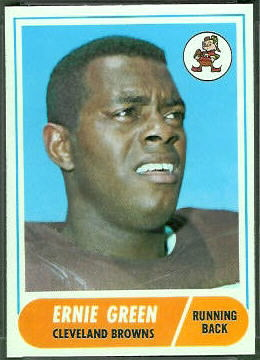 Ernie Green 1968 Topps football card
