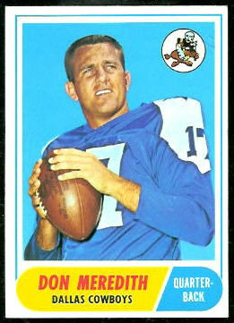 Don Meredith 1968 Topps football card