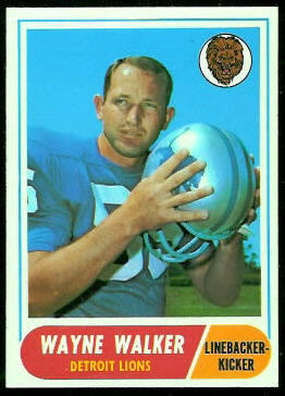 Wayne Walker 1968 Topps football card