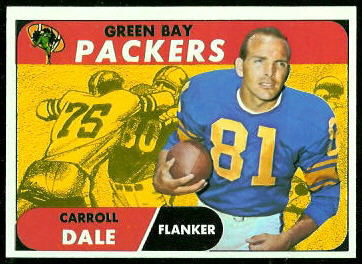Carroll Dale 1968 Topps football card