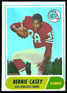 Bernie Casey 1968 Topps football card