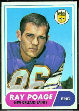 Ray Poage 1968 Topps football card