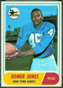 Homer Jones 1968 Topps football card