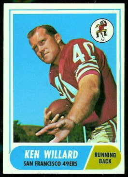 Ken Willard 1968 Topps football card