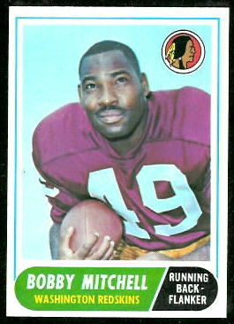 Bobby Mitchell 1968 Topps football card
