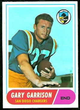 Gary Garrison 1968 Topps football card
