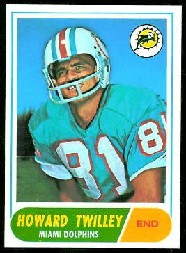 Howard Twilley 1968 Topps football card