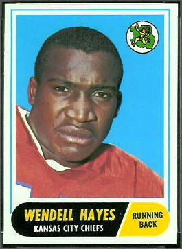 Wendell Hayes 1968 Topps football card