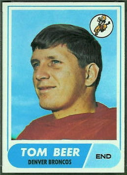 Tom Beer 1968 Topps football card