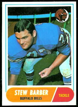 Stew Barber 1968 Topps football card