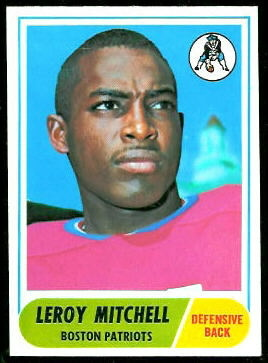 Leroy Mitchell 1968 Topps football card