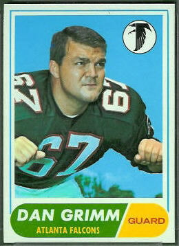 Dan Grimm 1968 Topps football card