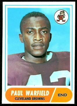 Paul Warfield 1968 Topps football card