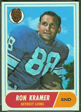Ron Kramer 1968 Topps football card