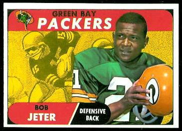 Bob Jeter 1968 Topps football card