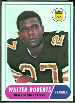 Walter Roberts 1968 Topps football card