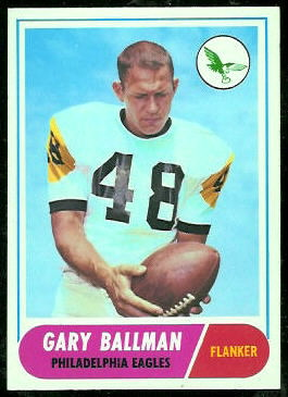 Gary Ballman 1968 Topps football card